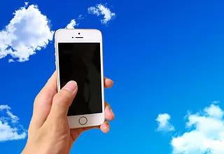 スマートフォンと空